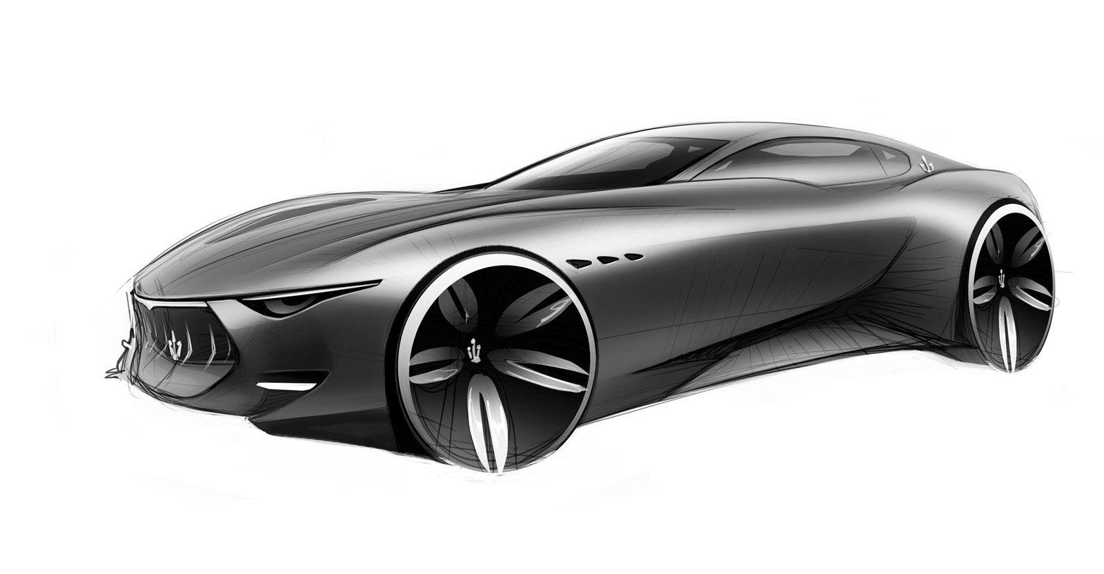 Maserati Alfieri Concept - Design Sketch | S K E T C H | Pinterest ...