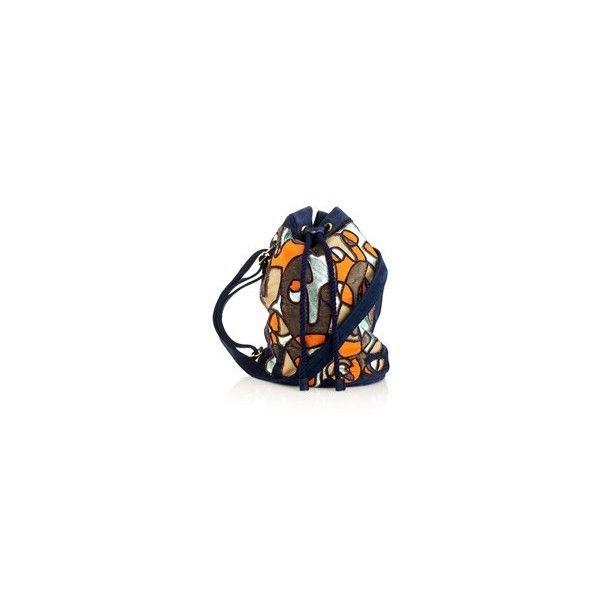 Reverse Applique Leather Barrel Bag Leutton Postle via Polyvore