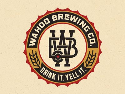 Wahoo Brewing Co. logo designed by Pavlov Visuals