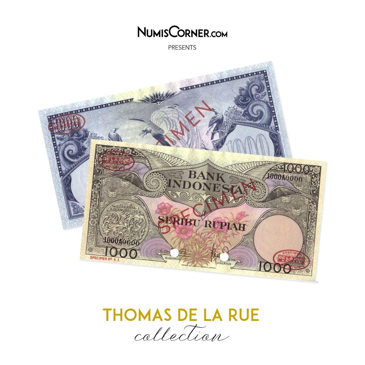 Banknote Indonesia 1000 Rupiah 1959 Specimen TDLR