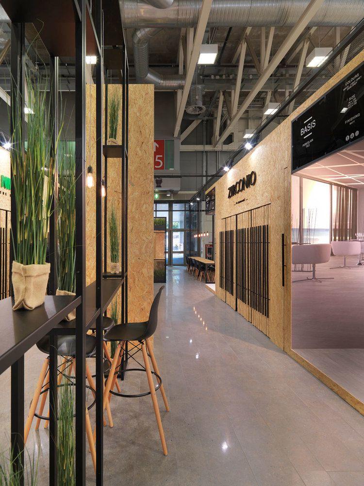 Design Exhibitions 2014 zirconio + niro granite stand at cersaie 2014 designvxlab