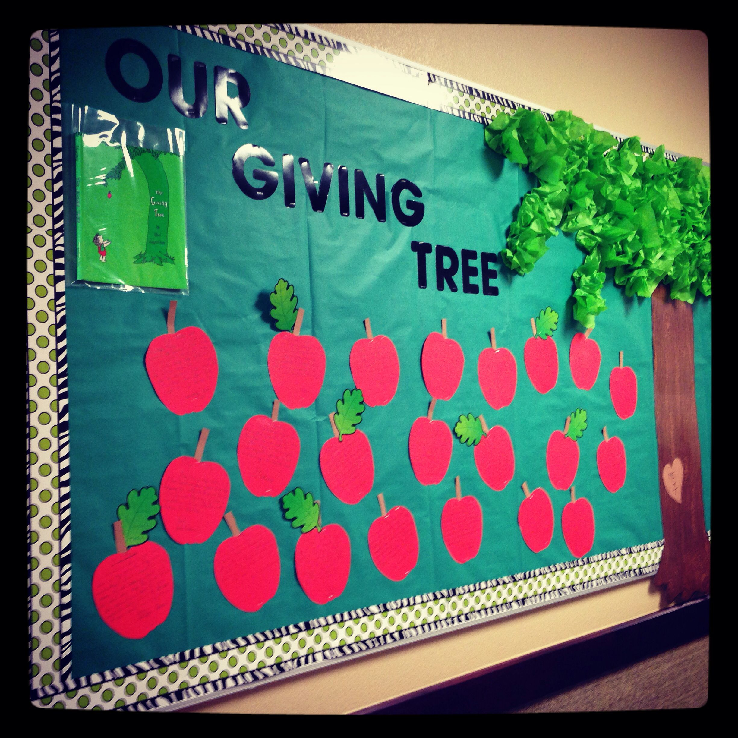 Fifth Grade Giving Tree Bulletin Board The Kids Wrote On