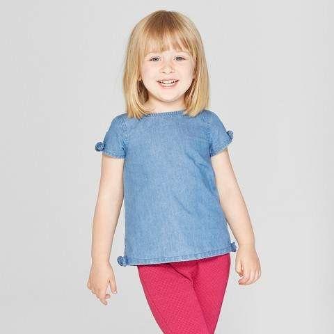 b1d6ce490 Genuine Kids from OshKosh Toddler Girls  Short Sleeve Blouse ...