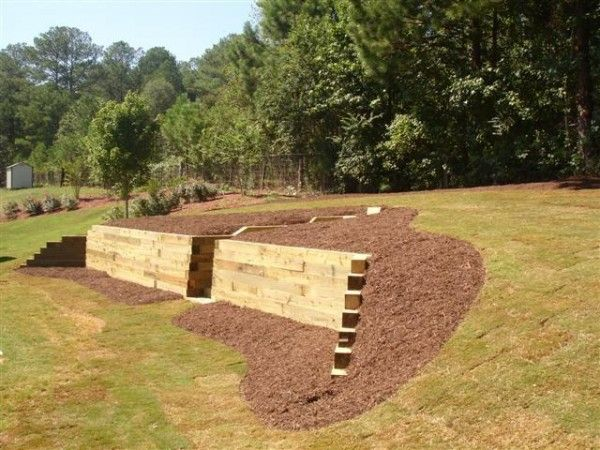 Remarkable Timber Retaining Walls | gardening | Pinterest ...