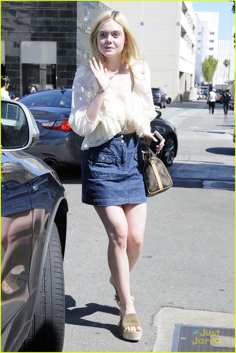 elle fanning sweet stroll zalman band shopping 05