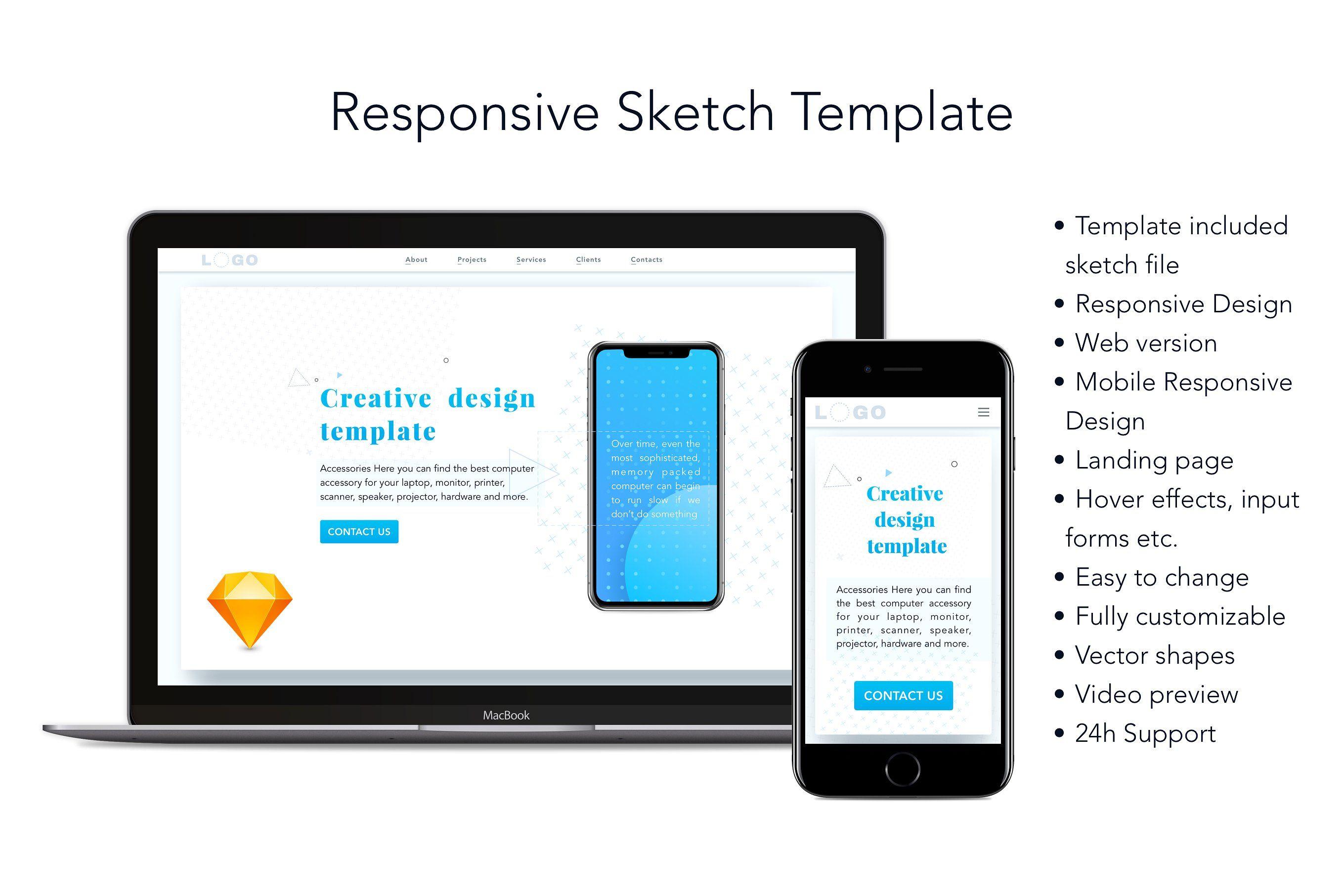 Responsive Sketch Template Templates