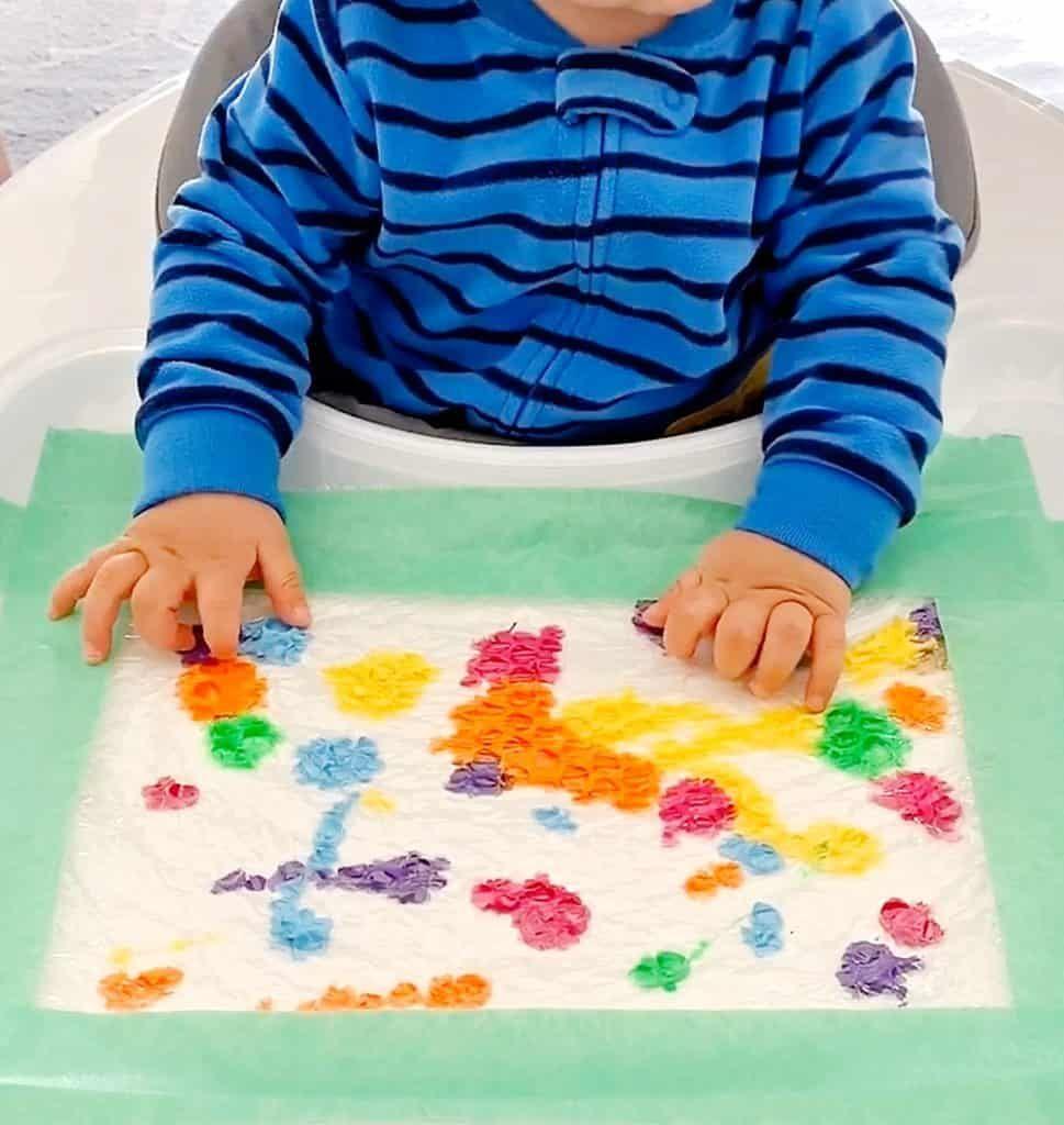 Baby Mess Free Bubble Wrap Painting Misc Pinterest Bubble Wrap