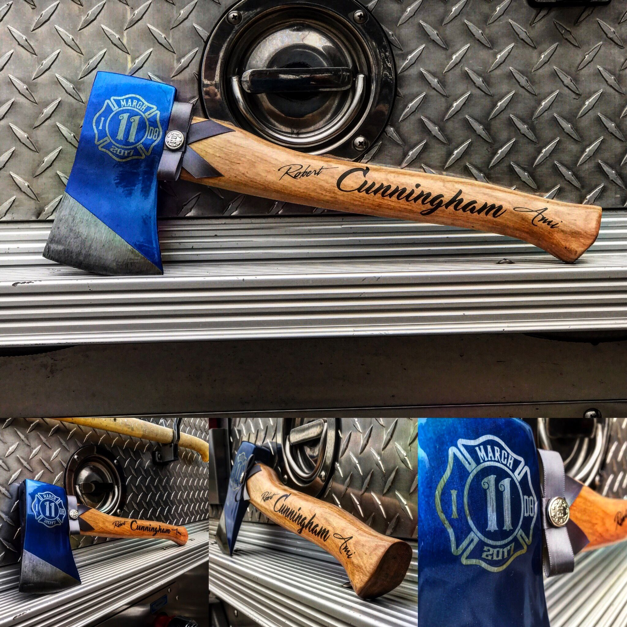 Firefighter Wedding Themes Ideas: Personalized Firefighter Wedding Axe Cake Cutter