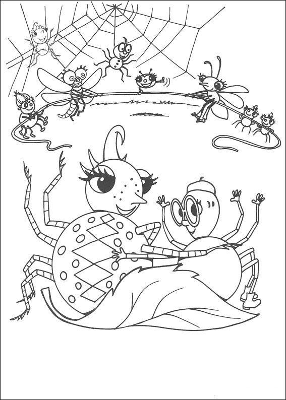 Desenhos para colorir Miss Spider 7