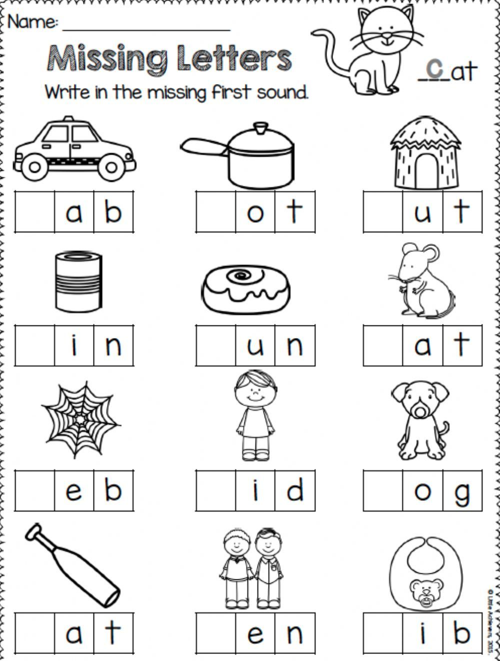 Missing Letters In Cvc Words Interactive And Downloadable Worksheet You Can Do The Exer In 2020 Missing Letter Worksheets Alphabet Letter Worksheets Letter Worksheets