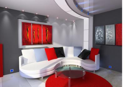 Décoration d'une maison à l'ambiance industrielle  Contemporain  Salle de