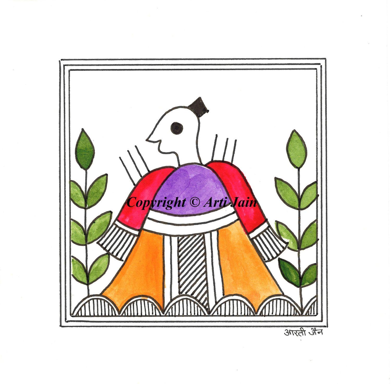 Warriormonkhandmade Madhubani Greeting Cardscards For All