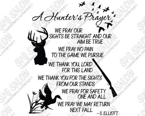 A Hunter's Prayer Southern Custom DIY Vinyl Sign Decal
