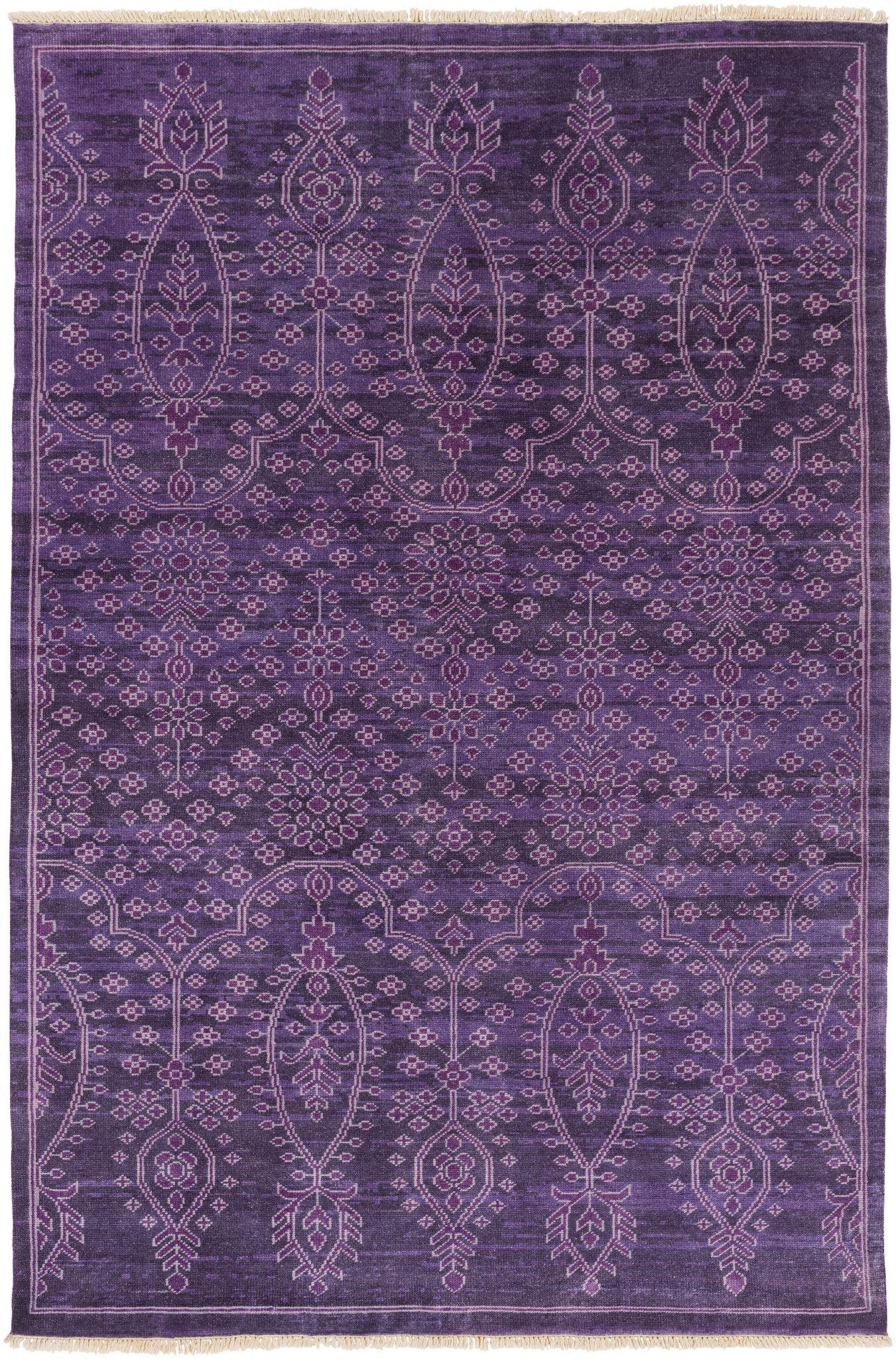Antique Rug In Purple Design By Surya Purple Area Rugs Purple Rug Purple Carpet