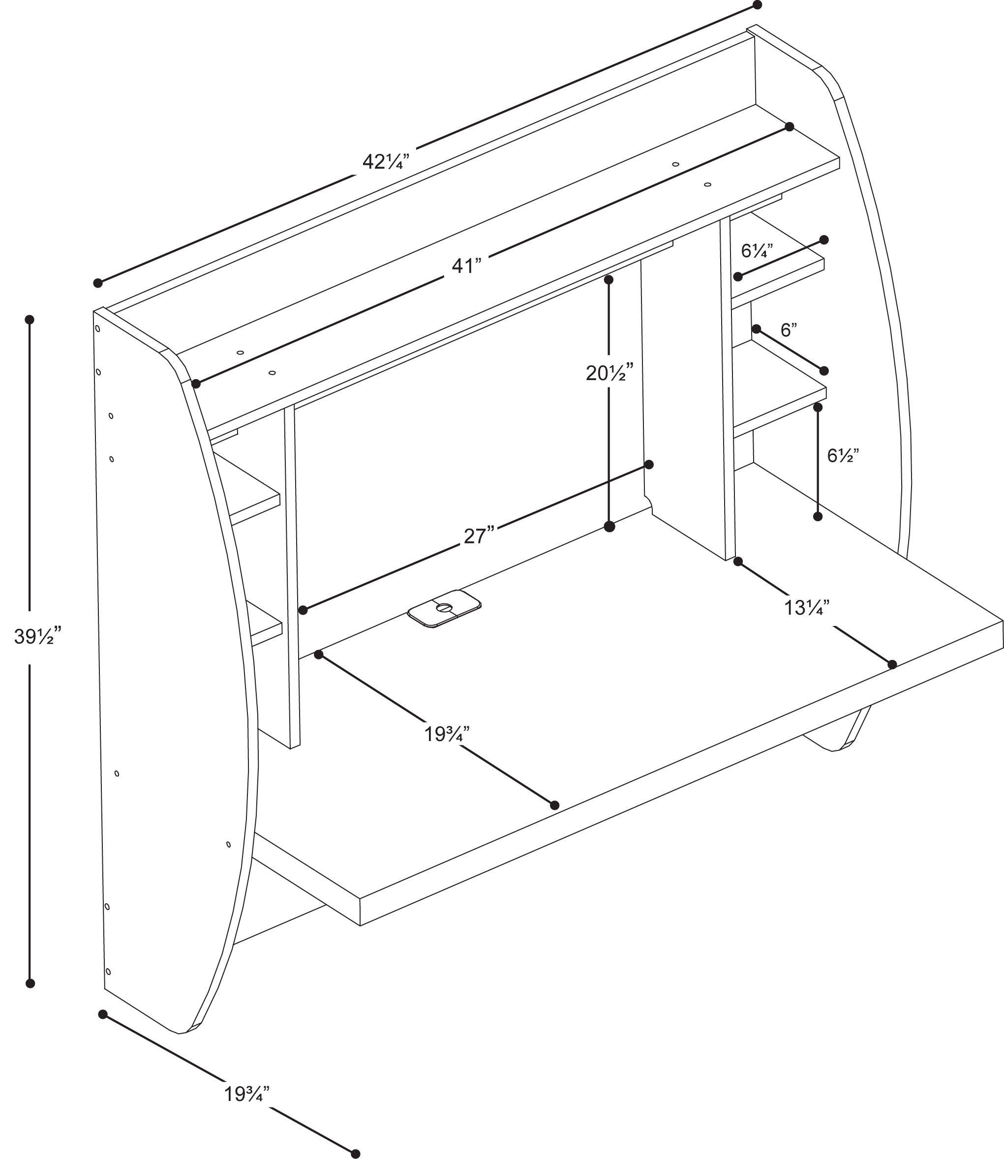 Behw 0200 1b Prepac Floating Desk With Storage White Floating Desk Floating Desk Wall Mounted Desk