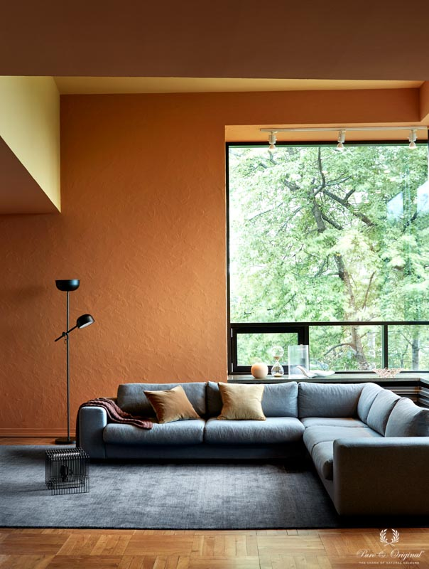 Living Room In Warm Shades Painted In Orange And Yellow In 2020 Living Room Orange Orange Living Room Walls Accent Walls In Living Room #orange #paint #for #living #room