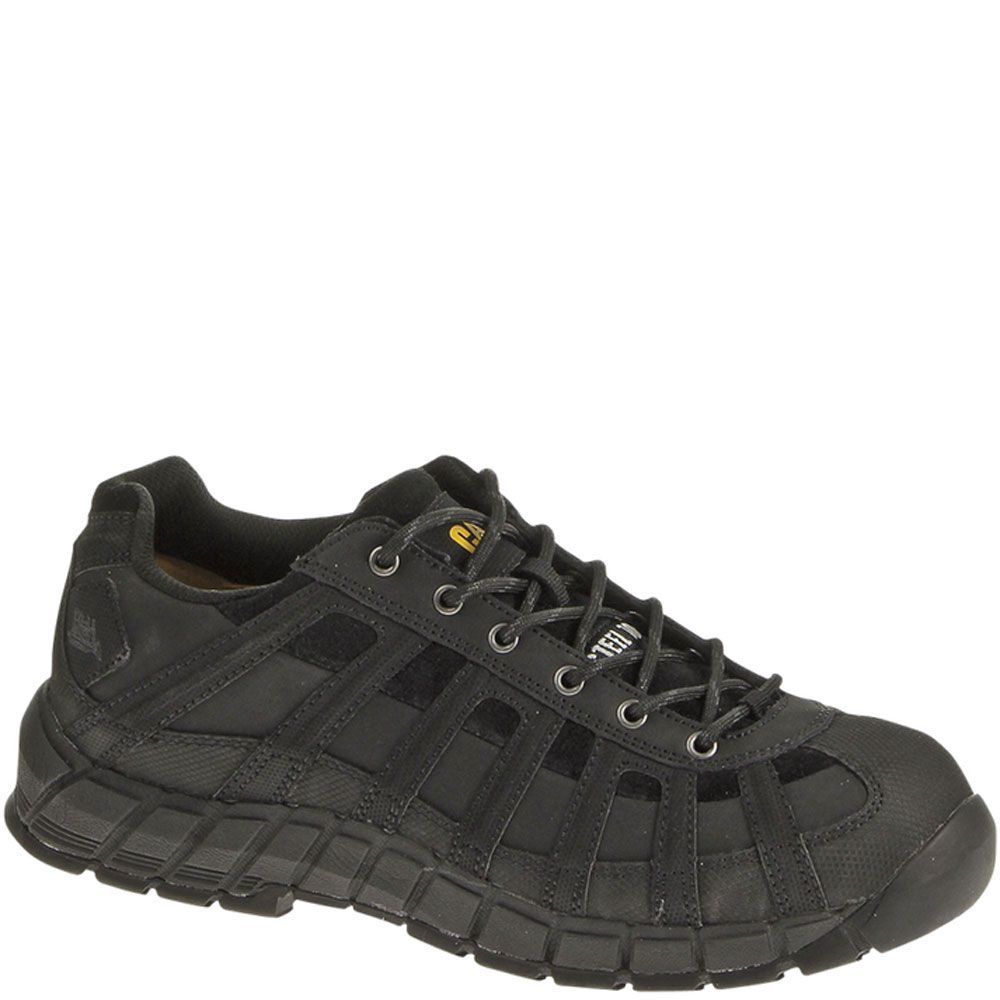 90295 Caterpillar Menu0026#39;s Switch Safety Shoes - Black | Caterpillar Boots | Pinterest
