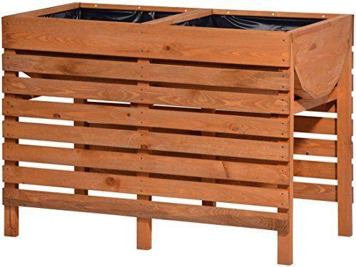 Dobar 58150fsce Dekoratives Hochbeet Aus Holz Kiefer Tischbeet