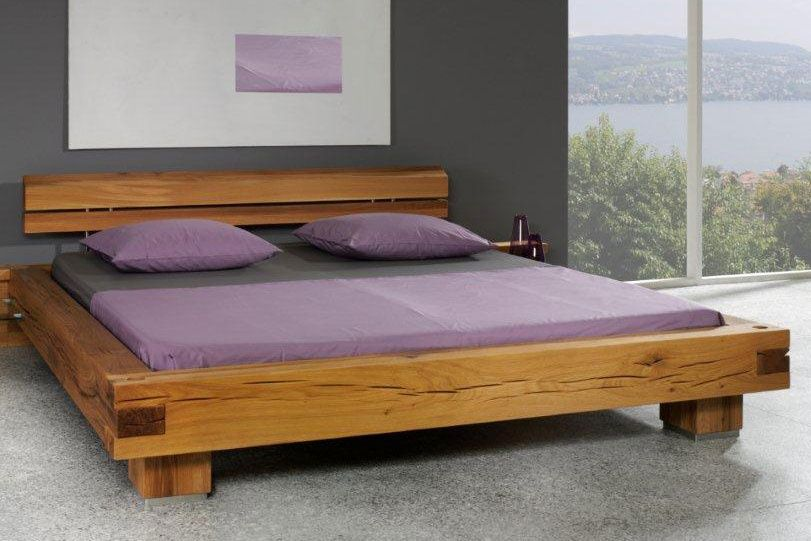balkenbett sumpfeiche aus massiven sumpfeichen balken gefertigt slaapkamer ideetjes. Black Bedroom Furniture Sets. Home Design Ideas