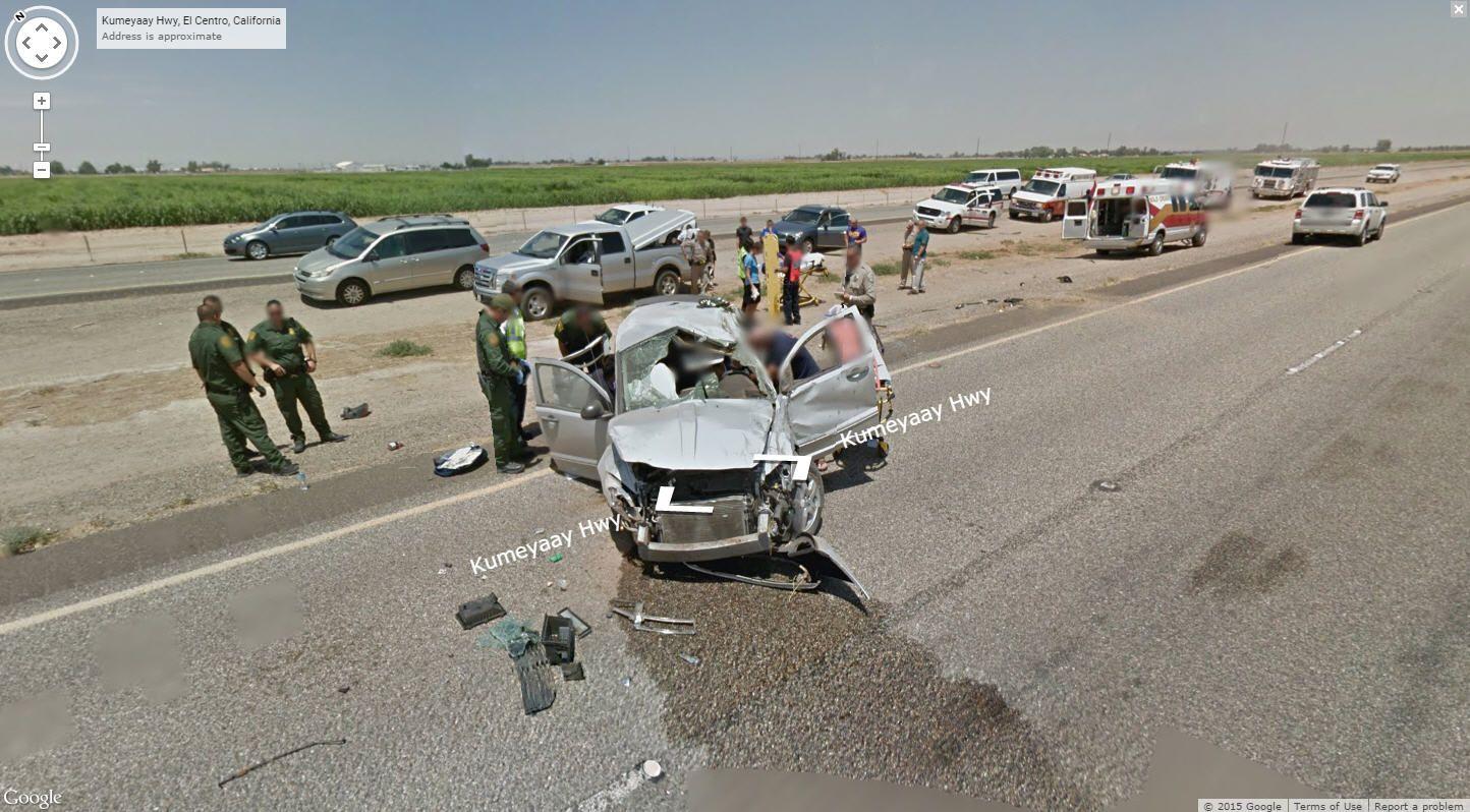 Google Earth Car Crash