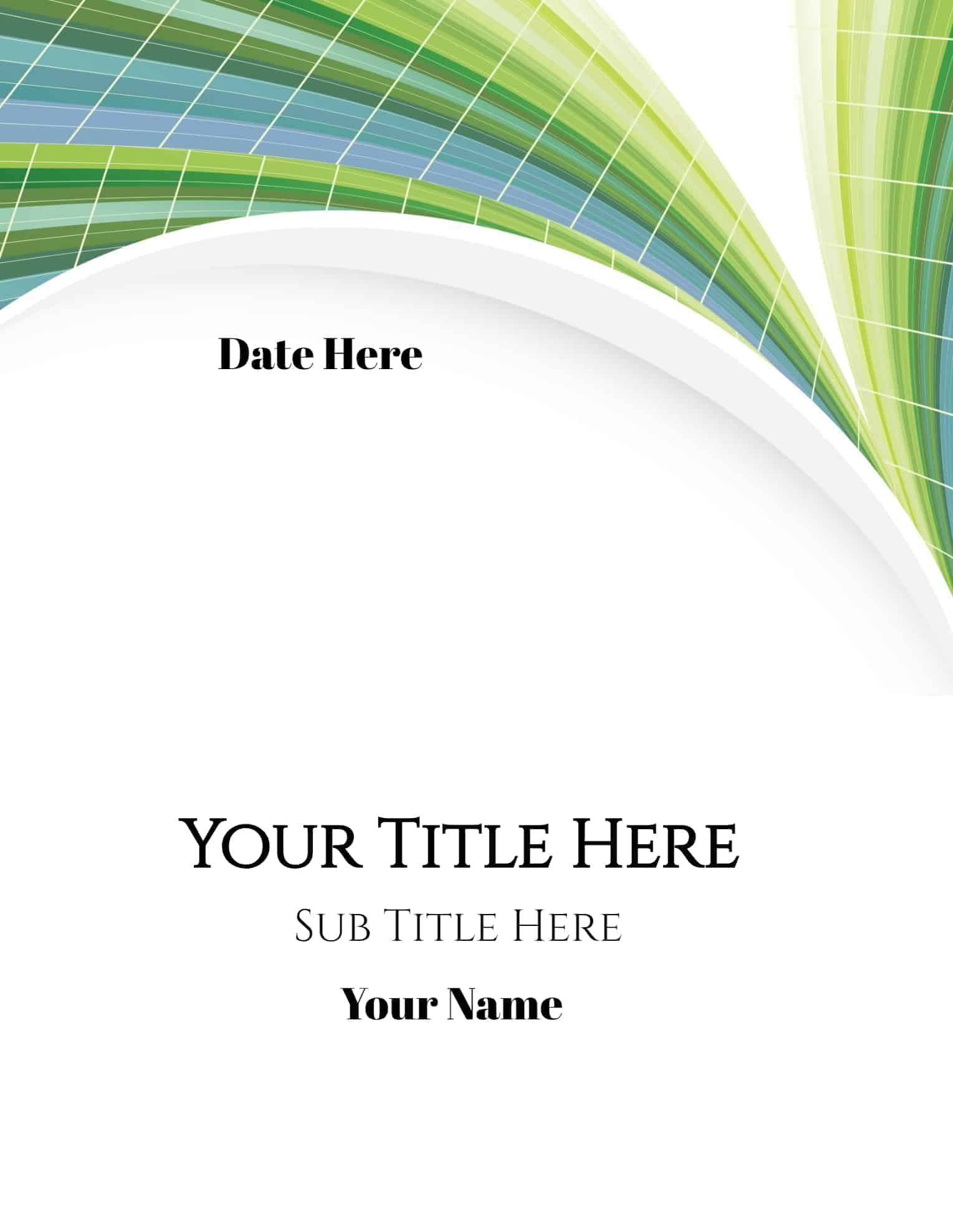Free Printable Cover Pages That You Can Edit Online Add Your Own Text And Or Logo Cover Page Maker Cover Pages Cover Page Template Professional portfolio cover page template