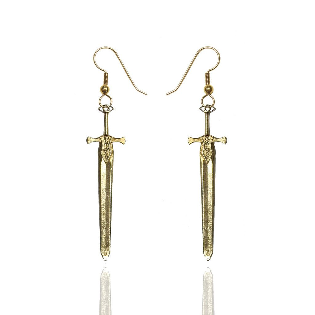 Damaris Sword Earrings (Throne of Glass by Sarah J. Maas ...