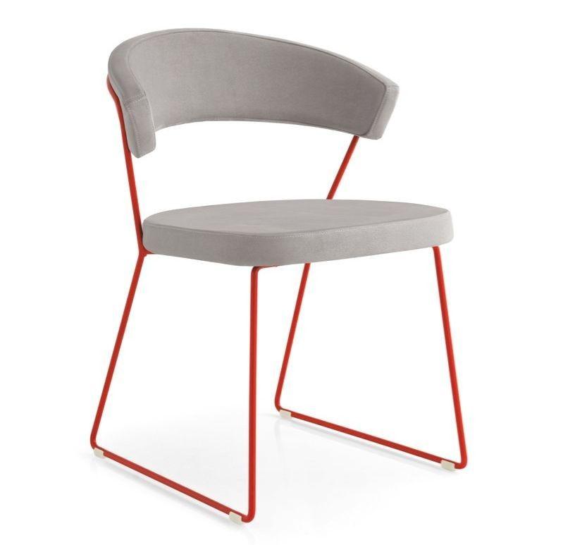 New York stoel Calligaris rood | Stoelen