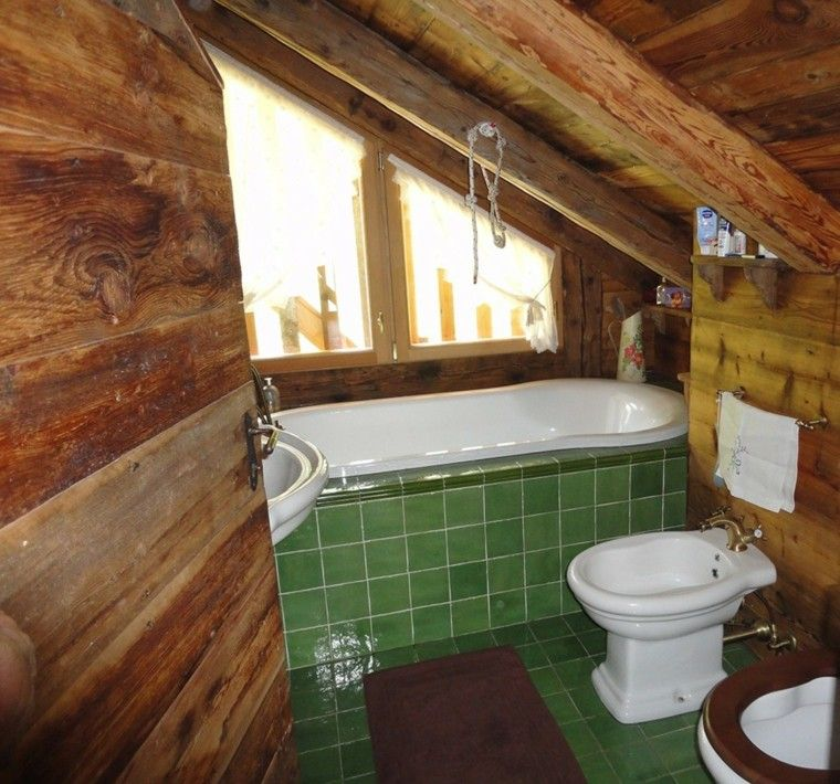 cuartos de bao rusticos de madera