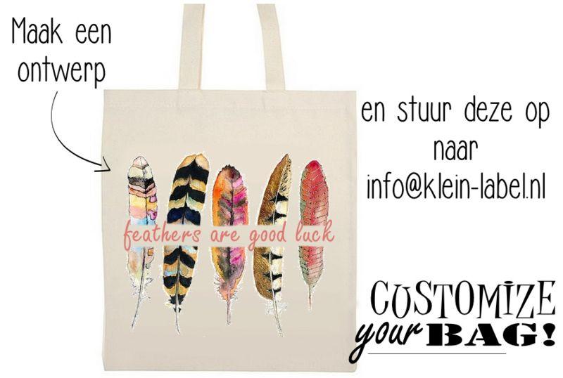 Katoenen tas met jouw afbeelding