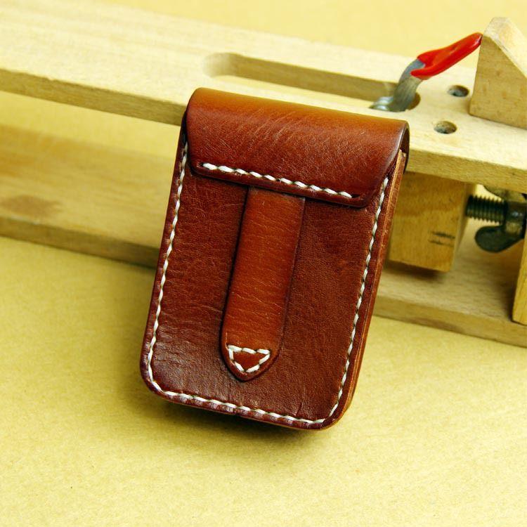 47631370b833 Оригинальный ручной мужская винтаж кожа портсигар легче коробка лучший  Кожаный Ремень Мешок купить на AliExpress