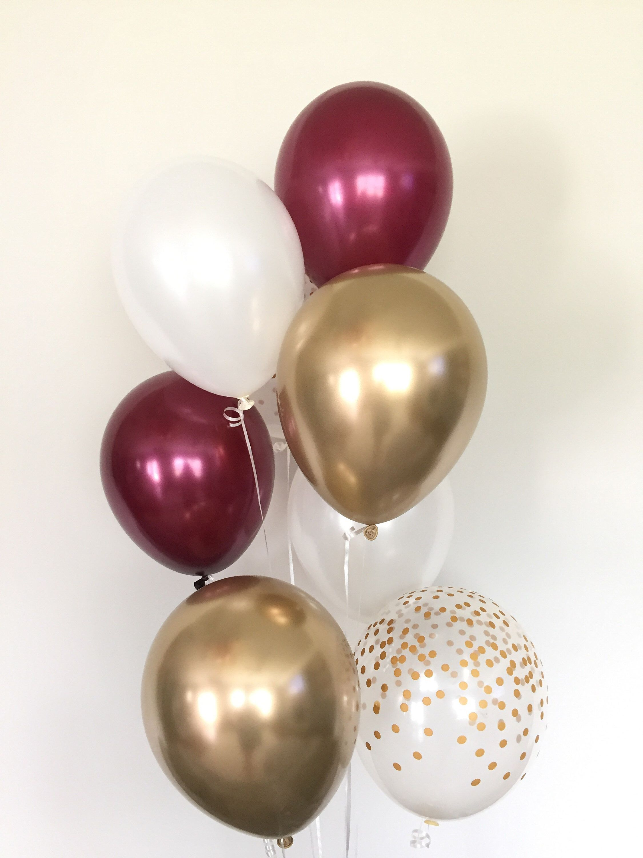 Burgundy And White Balloons Burgundy Wedding Decor Burgundy