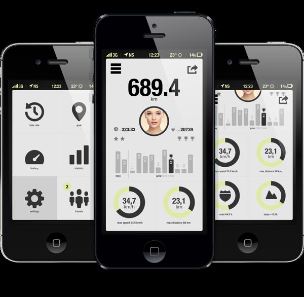 bicycle app by Michal Galubinski, via Behance