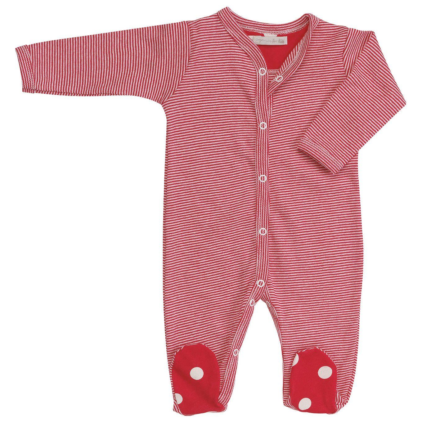 Pigeon Organic Striped All In One Babygrow Sleepsuits At Born