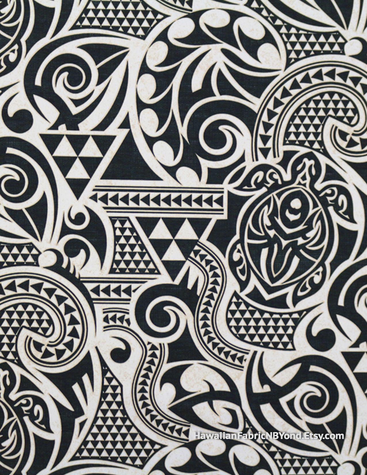 Fabric Polynesian Tribal Tapa Tattoo Patterns And Petroglyph
