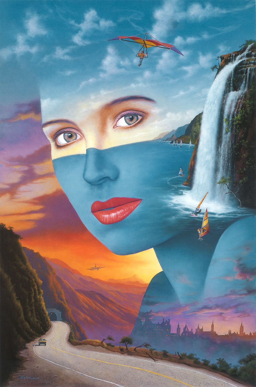 Jim Warren   Disney fine art, Surrealism painting