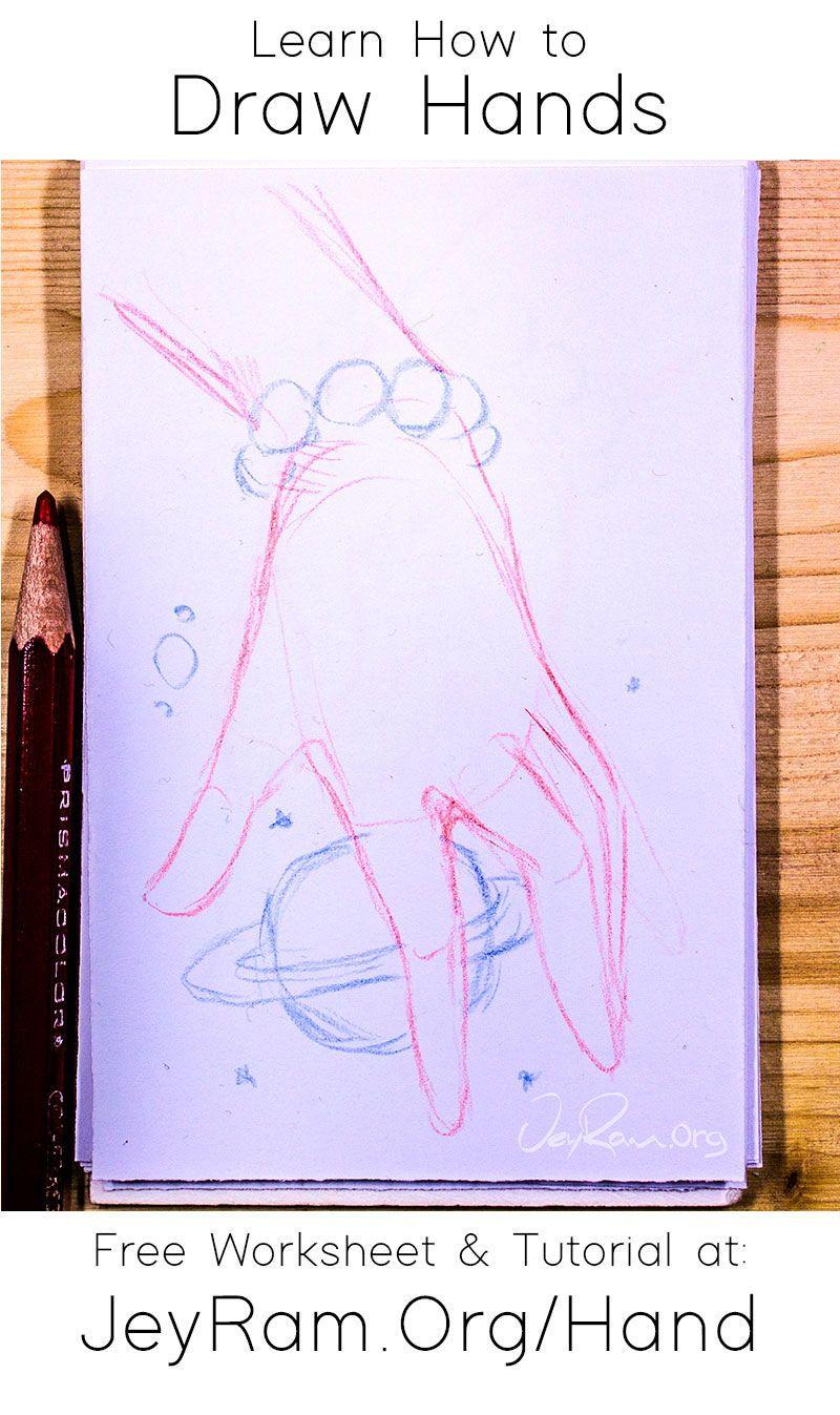How To Draw Hands Free Worksheet Tutorial Em 2020 Tutoriais De Desenho A Lapis Tutorial De Desenho Tutoriais De Desenho