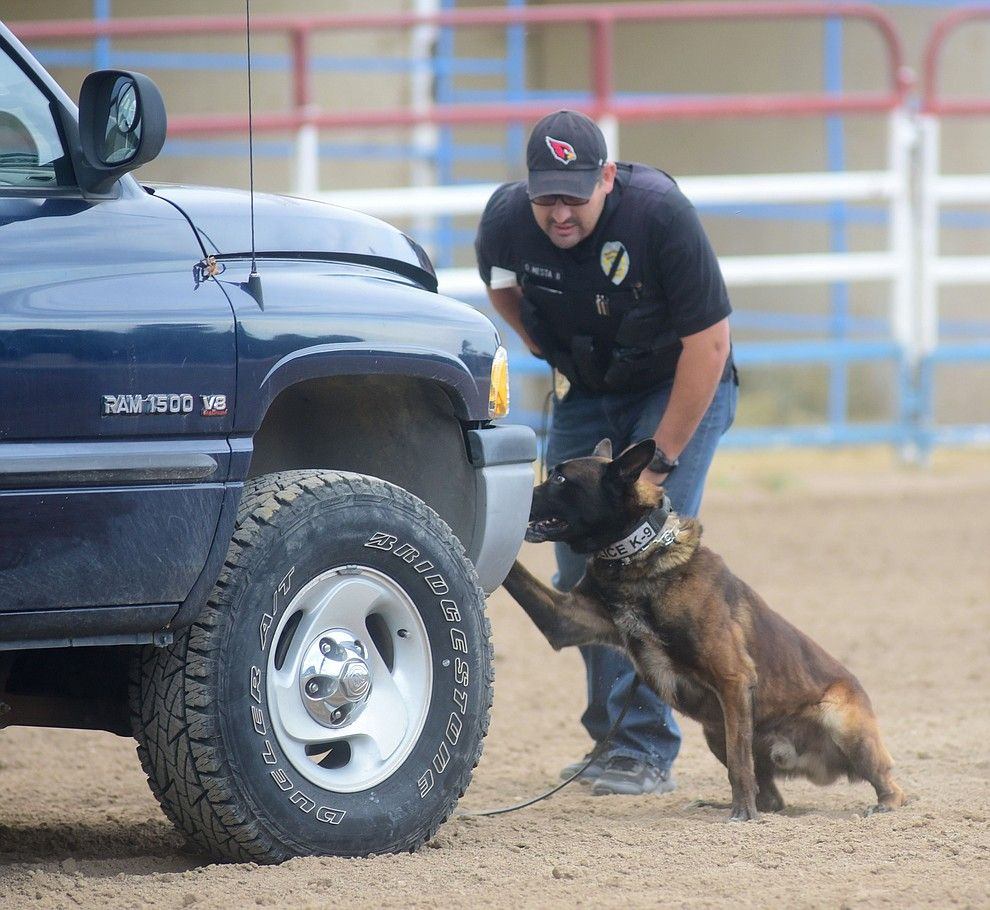 Nogales Police Department S Oscar Mesta And K9 Ari Find Money