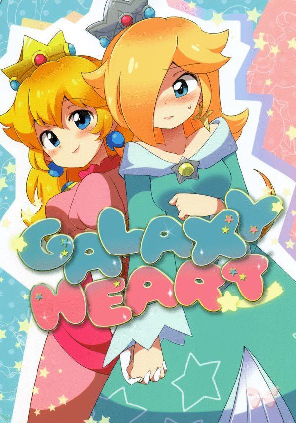 Mario Brothers Doujinshi Galaxy Heart Peach X Rosalina Super Mario Art Mario Super Mario Princess