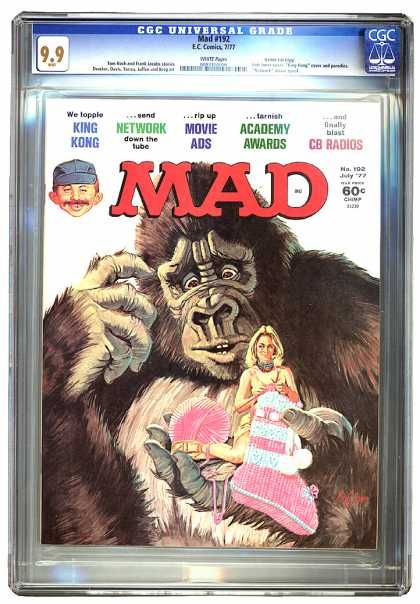Mad - July 77 - King Kong - Knitting Woman - Puzzled Ape