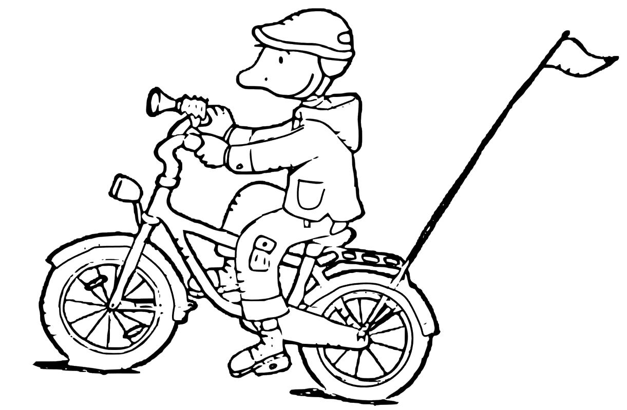 jules fietst kleurplaten thema vervoer