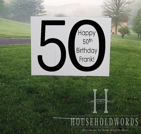 Custom Birthday Yard Sign Corrugated