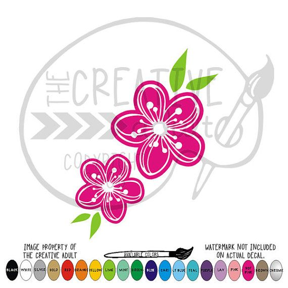 Cherry Blossom Flowers   Vinyl Decal Sticker  by TheCreativeAdult