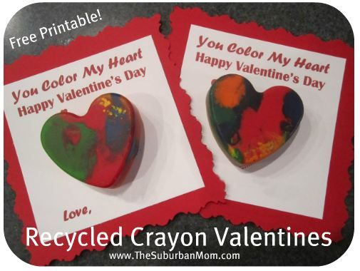 How to Recycle Crayons ~ Valentine's Day Kids Craft - TheSuburbanMom