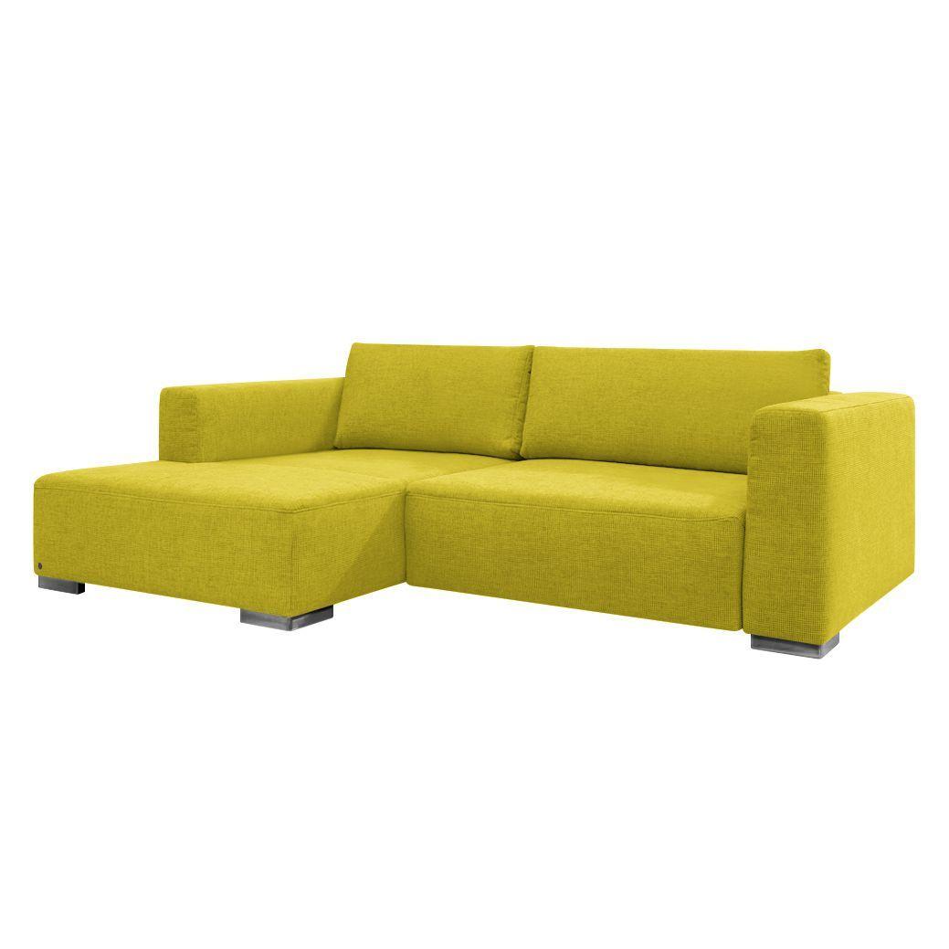 Chaiselongue mit schlaffunktion  Ecksofa Heaven Colors Style S - Webstoff - Longchair/Ottomane ...