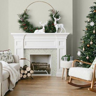 7ft Prelit Artificial Christmas Tree Indexed Balsam Fir