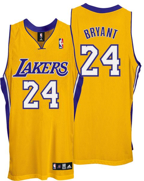 Los Angeles 24# Lakers Kobe Bryant Authentic Home Jerseys