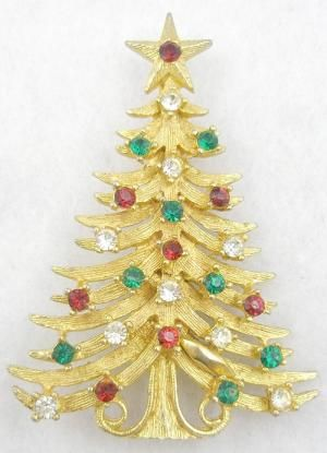 Mylu Christmas Tree Brooch - Garden Party Collection Vintage Jewelry