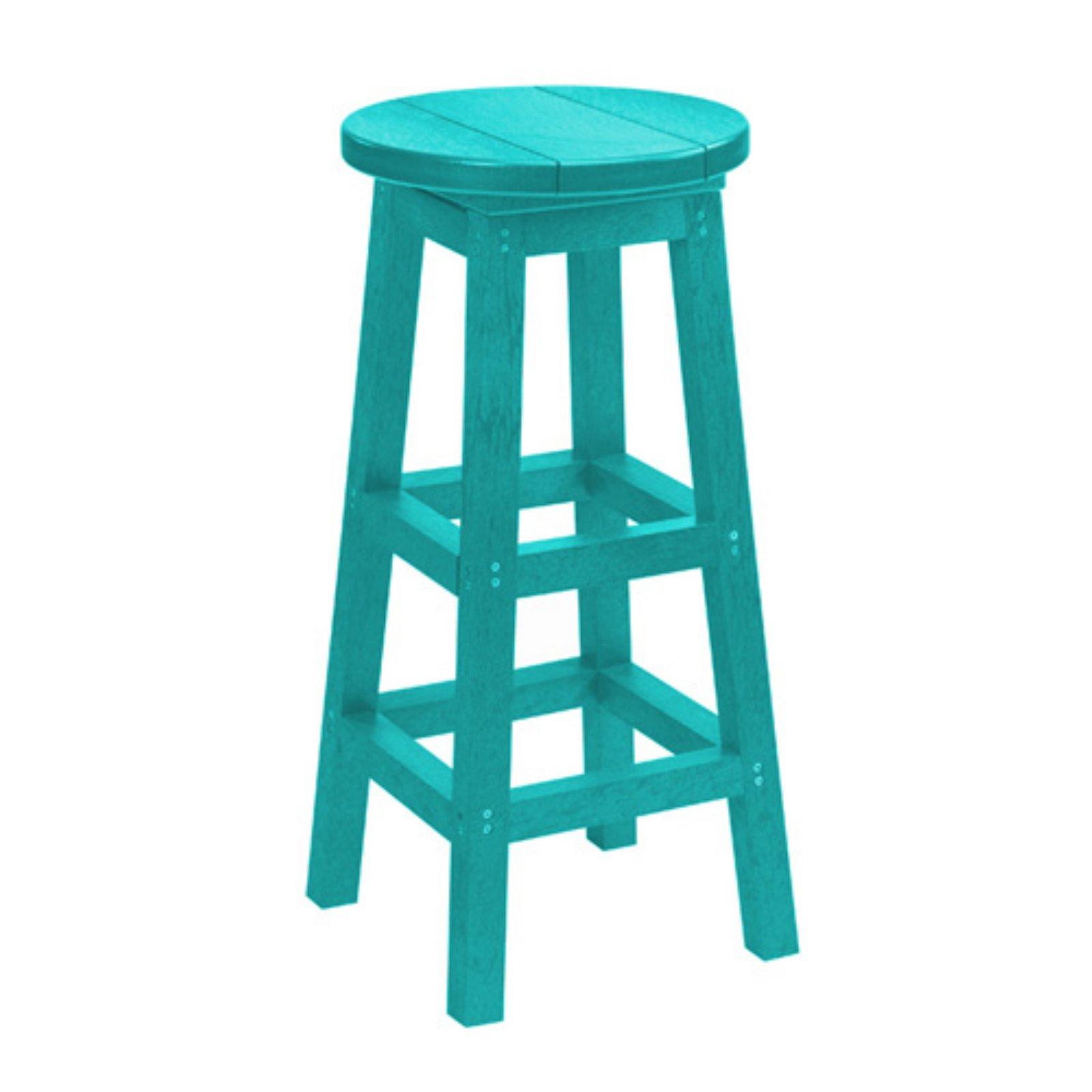 C R Plastic Generations Swivel Bar Stool Turquoise Bar Stools