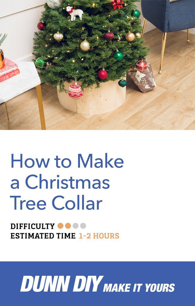 How To Make A Diy Christmas Tree Collar Diy Christmas Tree