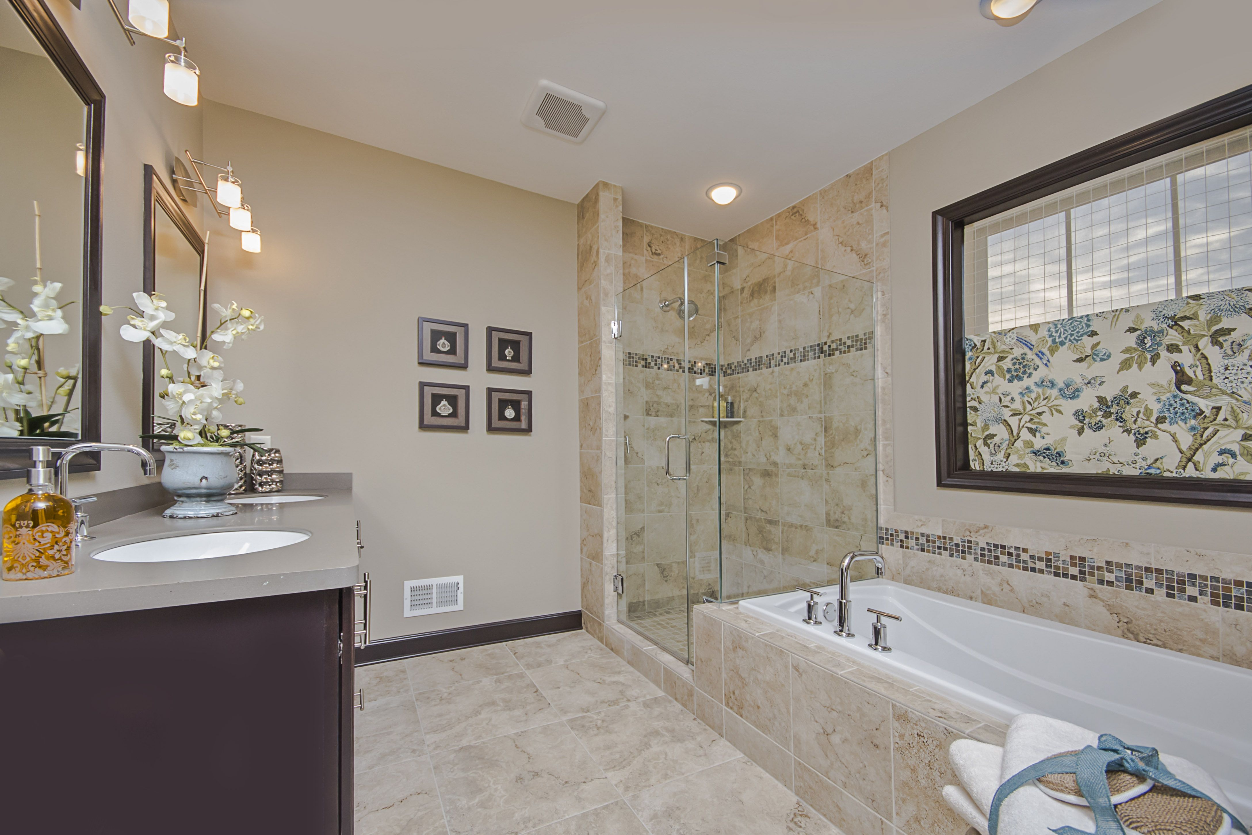 Owner's bathroom. Stafford model home at Victoria Station, Pewaukee, WI. 2014 Southeastern Wisconsin Parade of Homes. http://www.homesbytowne.com/states/wisconsin.html